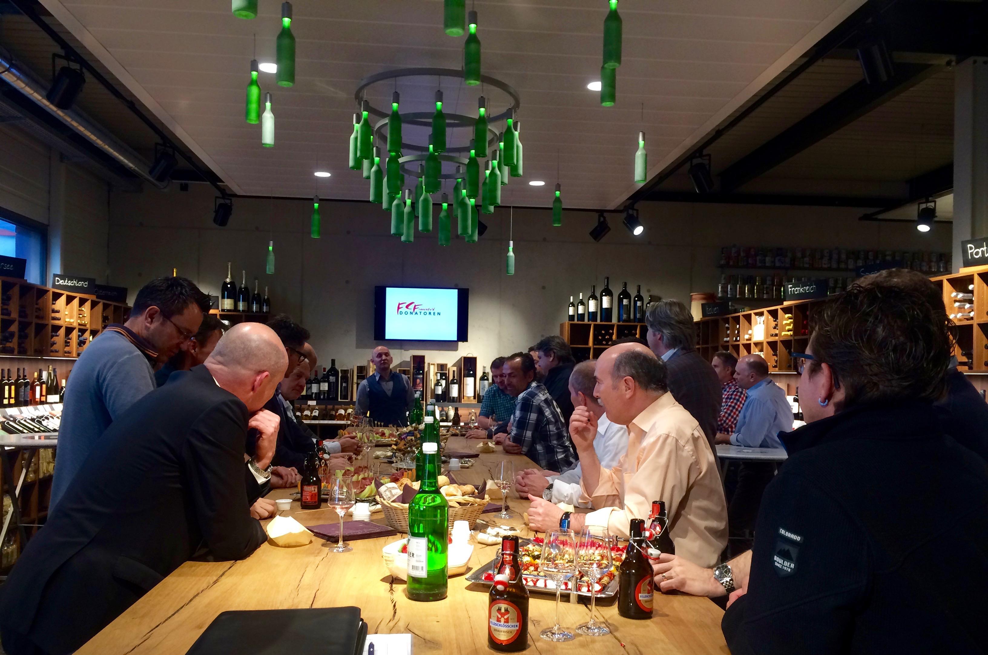 Degustationsanlass bei der Getränke Hahn AG 2016 – FCF Donatoren